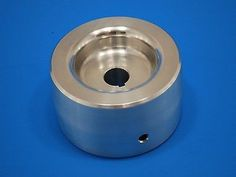 "Belt Grinder Knife Grinder 4"" Drive Wheel Crowned 7/8"" shaft 6061 Aluminum"