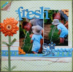 Summer Fresh, layout by 1LuckyMom