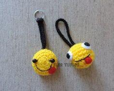 mickey minnie minion smile souvenir llavero tejido a crochet