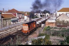 1320 class at Pinhal Novo, Portugal by phil cotterill Train Art, Train Stations, Image, Roads, Cars, Trains, Parking Lot, Transportation