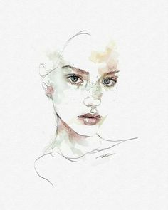 New Painting Abstract Portrait Watercolour Ideas - Owls - paintings, drawings, illustrations, jewerly, rocks & so much more! Abstract Portrait, Watercolor Portraits, Painting Abstract, Watercolor Portrait Tutorial, Painting Art, Watercolor Art Face, Tattoo Watercolor, Animal Watercolour, Painting Tattoo