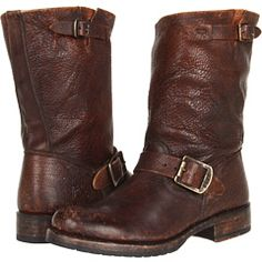 Frye Veronica Shortie in cognac stone antiqued