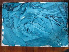"""Seeming Bleu""  Acrylic knife carving"
