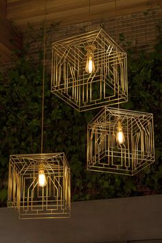 Gold ceiling lighting design inspiration