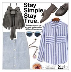 """Stay simple ,stay true"" by teoecar ❤ liked on Polyvore featuring Christian Dior, River Island and shein"