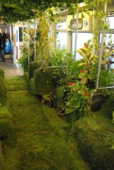 Mobile Garden on theLoop -- A Mobile Garden to a train car riding Chicago's downtown Loop,