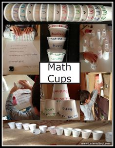 Thank you to Layered Soul.com!  Teaching Place Value with cups