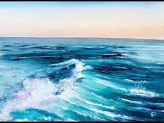 Sea Water in Watercolors Painting Tutorial - YouTube