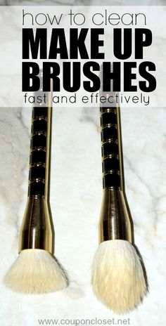 How to clean Makeup Brushes - without harsh chemicals.
