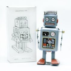 Retro Classic Wind-up Robot (Japan circa 1940s) « WooHooYeah