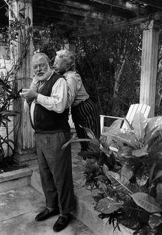 they found the happiness they were looking for all along within eachother by eachother  Ernest Hemingway and Mary Welsh, this is such a wonderful image....his was the happiest he said, with Mary, his last wife (4th).