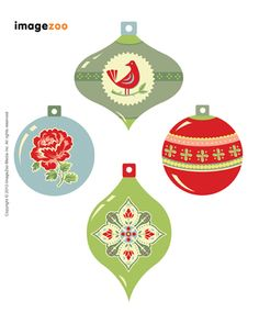 Printable Christmas tags, various other tags and labels, bookmarks and bookplates [Direct link in case the downloads page changes: http://www.imagezoo.com/emails/2010/dec/ImageZooGiftTags.jpg ]