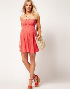 Enlarge ASOS Maternity Cheesecloth Bandeau Dress