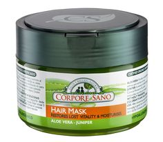 Corpore Sano Hair Mask-Juniper and Aloe-Restores and Moisturizes-CERTIFIED ORGANIC-HYPPOALLERGENIC-NO PARABENS-250ml/8.4 fl oz >>> You can find more details by visiting the image link.