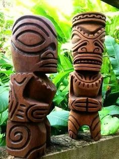 ♥Cool Tiki Totems! Tiki Décor, Tiki Bar, Vintage Tiki, Tiki Mug, Rare Tiki!