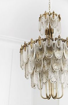 Gorgeous, elegant chandelier. Lighting. // Living room.  http://www.homestolove.com.au/a-fashionable-cottage-renovation-in-sydney-4053
