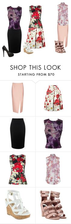 """Flower power"" by ilovebranstark01 ❤ liked on Polyvore featuring C/MEO COLLECTIVE, Dolce&Gabbana, Alexander McQueen, Versace, The 2nd Skin Co., GUESS, Laurence Dacade and Charlotte Olympia"