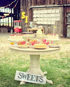 A well-stocked sweet table. Sweet!