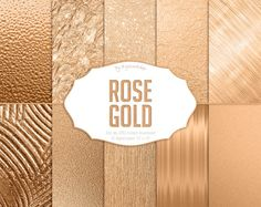 """#Gold Digital Paper: """"Rose Gold"""" digital #golden backgrounds with #metallic textures in rose gold tones  10 digital paper """"Rose Gold"""" this is digital golden papers with metall... #etsy #digiworkshop #scrapbooking #illustration #creative #clipart #printables #crafting #rose #background"""