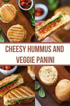This Cheesy Hummus and Veggie Panini is the dreamiest vegetarian sandwich option you'll ever find! Gooey cheese, creamy hummus, and flavorful vegetables! Best Vegetarian Sandwiches, Easy Vegetarian Lunch, Veggie Sandwich, Healthy Sandwiches, Vegetarian Dinners, Vegetarian Recipes, Easy Lunches For Work, Easy Healthy Recipes, Healthy Meals