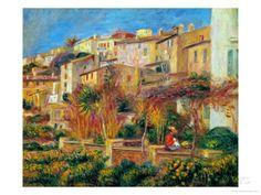 Terrace at Cagnes, 1905 Gicléedruk van Pierre-Auguste Renoir bij AllPosters.nl