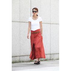 Graceful Deep Orange Adjustable Waist Long Maxi Skirt - NC030 Graceful Deep Orange Adjustable Waist Long Maxi Skirt - NC030 [NC030] - $107.84 : Sara Steven