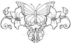 filigree butterfly tattoo designs - Google Search