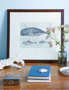 The July/August issue of Coastal Living is filled with eye candy! One such treat is an old whaling captain's house on Nantucket's Main Street for which designer Gary McBournie conjured up… Interior Design Advice, Decor Interior Design, Coastal Living, Coastal Decor, Nantucket Home, Nautical Home, Nautical Style, Whale Print, Old Wall