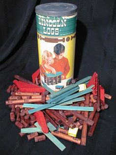 I love building with Lincoln logs.  We never seemed to have enough to build the really cool houses