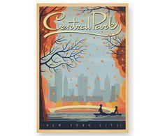 Lámina Central Park Autumn, de Joel Anderson | Westwing Home & Living