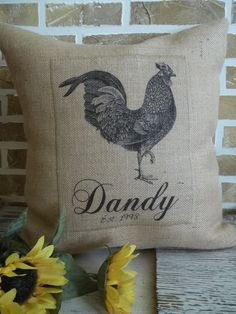 French Country Burlap Pillow (Photo only)