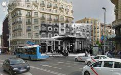 Sebastian Maharg - street view project - Calle Montera con Gran Vía (1930)