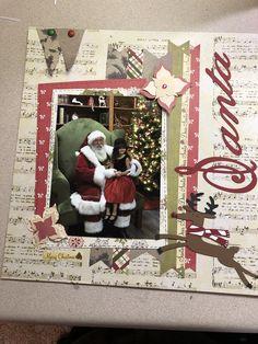 Christmas Scrapbook Layouts, Scrapbook Designs, Scrapbook Sketches, Scrapbook Page Layouts, Christmas Layout, Scrapbooking Ideas, Baby Scrapbook Pages, Scrapbook Paper Crafts, Scrapbook Cards
