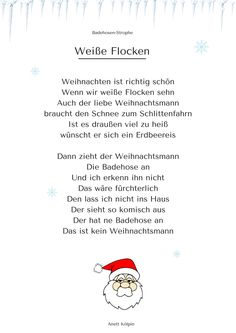 Winter-Gedicht - passende Gesten sind beschrieben ...
