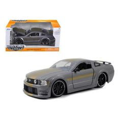 2006 Ford Mustang GT Grey With Gold Stripes 1/24 Diecast Car Model by Jada