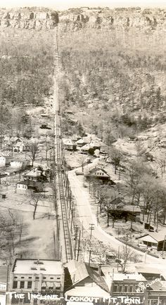 Real Photograph Chattanooga TN Incline Railroad up Lookout Mountain Real Photo Circa 1930 by Photographer Signed WM Cline 3 and 5 by 2 and a half printed on Velox Photo Paper 1 by UpNorth Memories - Donald Harrison Chattanooga Tennessee, East Tennessee, Us History, Asian History, Strange History, Tudor History, History Facts, American Civil War, American History