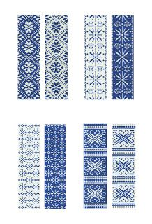 Peyote stitch patterns inspired by traditional norwegian designs - no blogue Lariata-Mumms - da Estónia