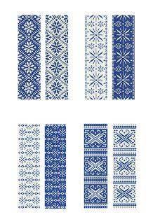 Peyote stitch patterns inspired by traditional norwegian designs - no blogue Lariata-Mumms - da Estónia