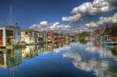 Houseboats on Lake Union, Seattle Washington