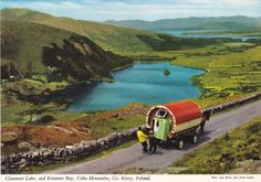 Glanmore Lake and Kenmare Bay - Caha Mountains, County Kerry, Ireland