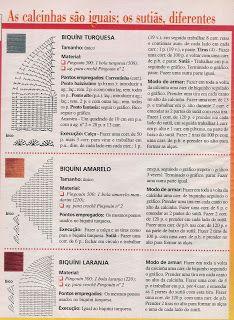 3 Bikini Tops - Charts.  http://artesdalilian.blogspot.com/search/label/Biquini de croche