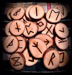 Elder futhark deviation wood burned runes set by DesertRoseATWA