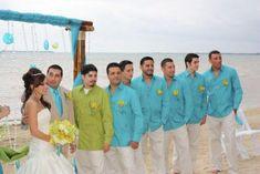 groom beach wedding attire | Forget the big wedding! A bride, a groom and an amazing beach -- that ...