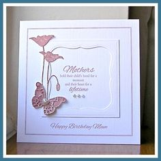 Pink Poppies Card by: PaperandInk