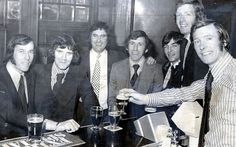 Ferguson played for Rangers and Falkirk before joining Ayr to play part-time while running his Glasgow pub Rangers Football, Rangers Fc, Glasgow Pubs, Sir Alex Ferguson, Retro Football, Football Pictures, Manchester United, The Past, Denis Law
