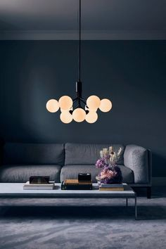 With inspiration from flowers, Sofie Refer has designed the new chandelier collection, Apiales. The collection consists of two chandeliers with 9 or 18 mouth-blown glass globes and are available in golden Brush Brass . Luminaire Original, Interior Design Blogs, Nordic Lights, Perriand, Luminaire Design, Modern Chandelier, Chandeliers, Glass Globe, Hygge