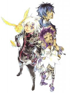 Katsura Hoshino, D Gray-Man, Noche - D.Gray-man Illustrations, Tyki Mikk, Allen Walker