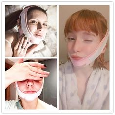 How to you lift your face ? Double Chin face mask Slimming Bandage skin care belt . only for you fast and worldwide shipping.only for today 60% off Face Lines, V Lines, Facial Exercises, Face Wrinkles, Clear Face, Double Chin, Sagging Skin, Facebook, Slim