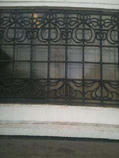 Art Deco stained glass window Wakefield Yorkshire.