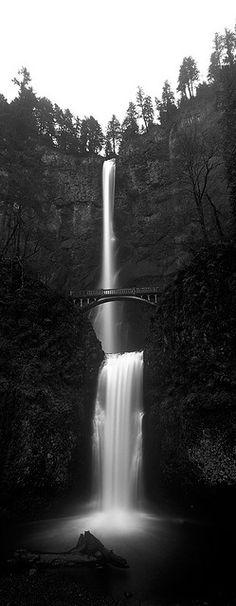 BEAUTIFUL IN BLACK AND WHITE...Multnomah Falls, Oregon